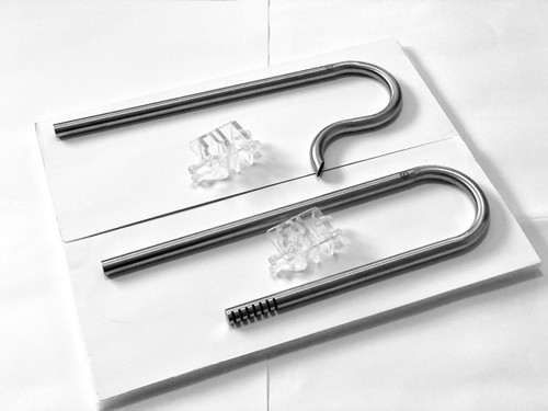 Stainless Steel Inflow Outflow Pipes for Aquarium Filters Planted Fish Tank