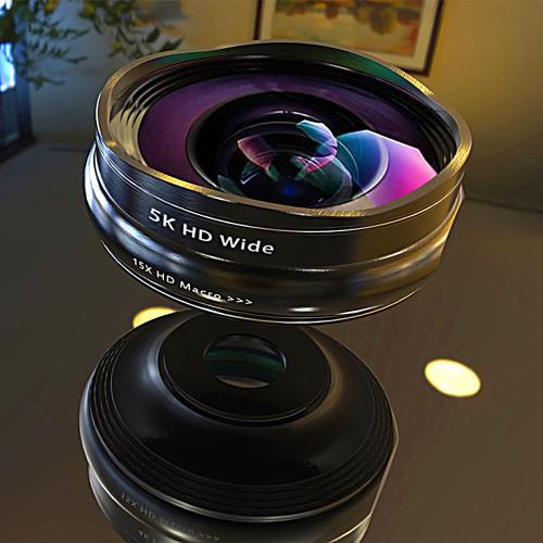 SCHOTT Series 5K HD Super Wide Angle + Macro Lens 2in1 Kit for Mobile Smart Phone Camera Lens