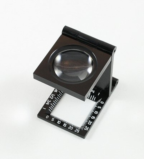 Linen Tester 5x Ruled, Foldable Loupe