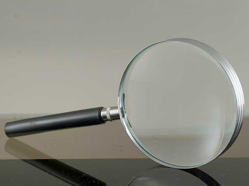 """Glass Magnifier, 4"""", 2.5x Power"""