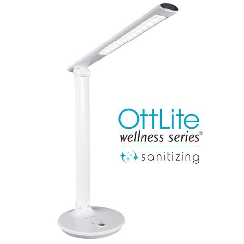 Emerge LED Sanitizing Desk Lamp with USB Charging