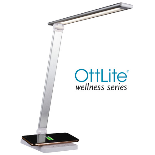 OTTLITE Entice LED Desk Lamp W/ Wireless Charging