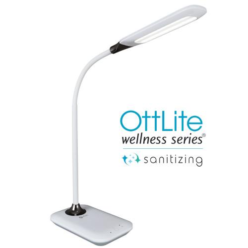 OttLite Enhance LED Sanitizing Desk Lamp with USB Charging