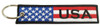 Embroidered USA Flag Keychain