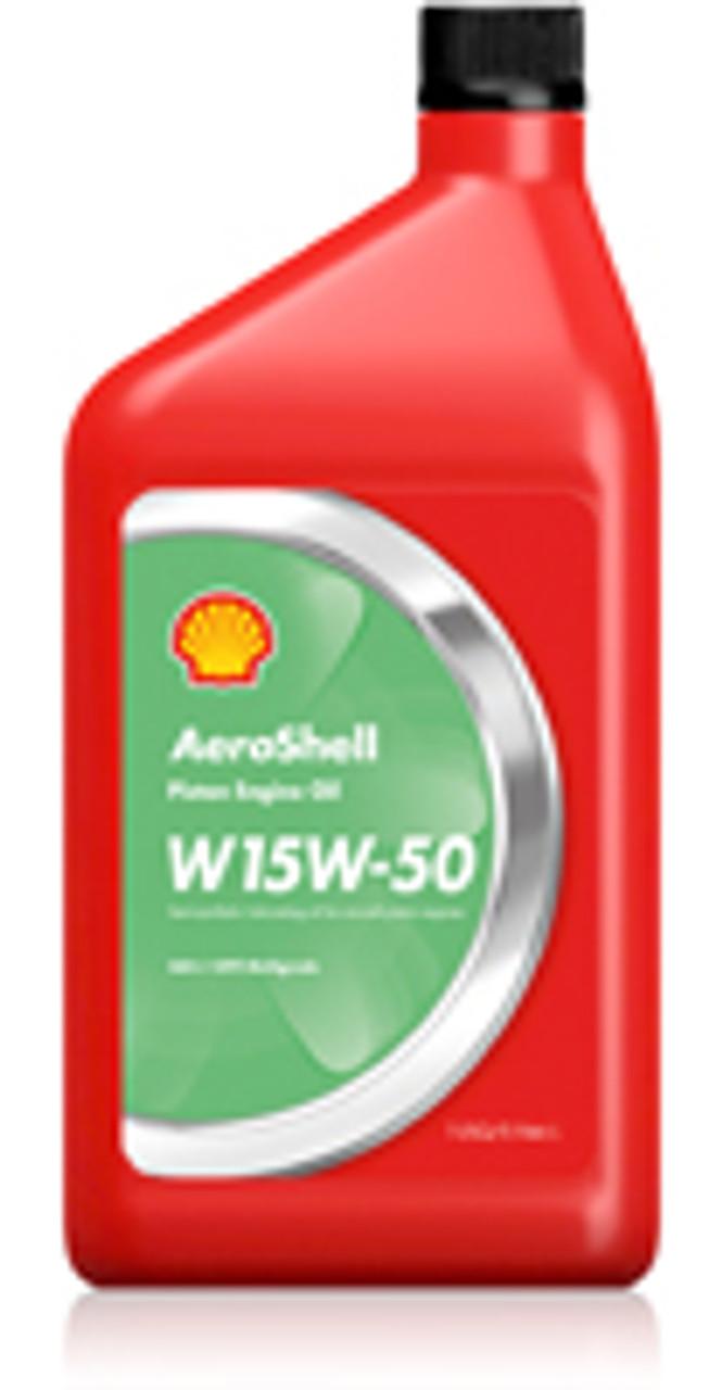 AeroShell Oil Multigrade 15W50 Aircraft Oil - 12 Quart Case
