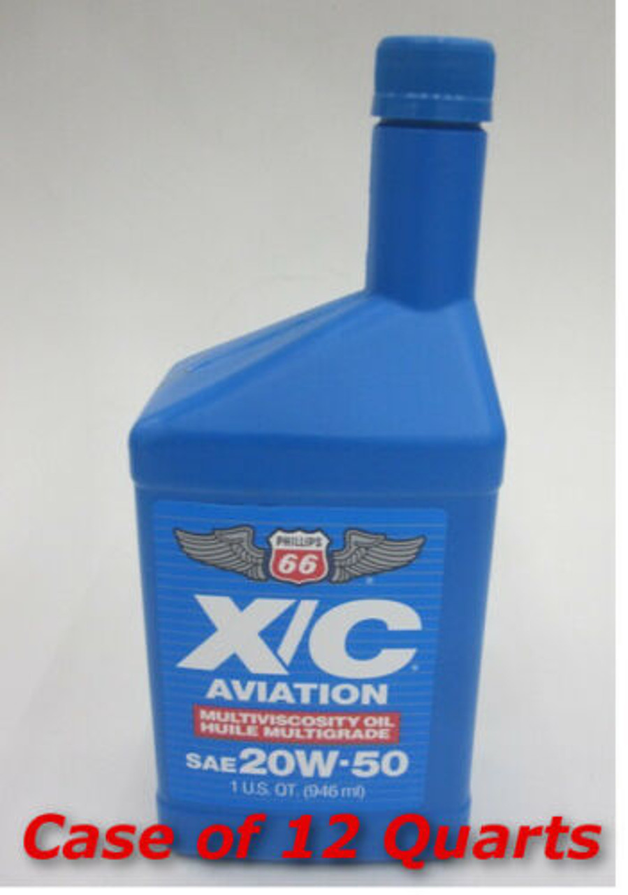Phillips XC 20W50 Aviation Oil - 12 Quart Case