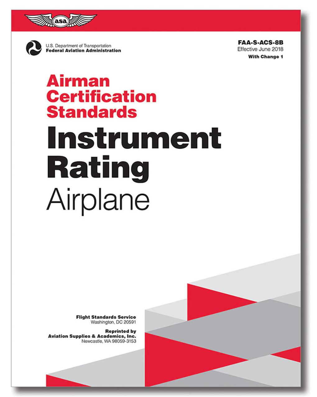 ASA Airman Certification Standards: Instrument Rating (Airplane) 8B.1