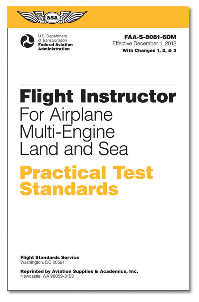 ASA Practical Test Standards: CFI - Multi-Engine