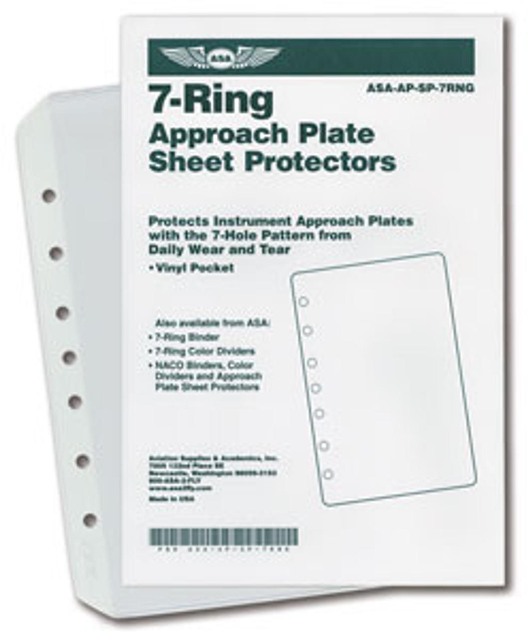 ASA Vinyl Sheet Protector Pockets: 7-Ring