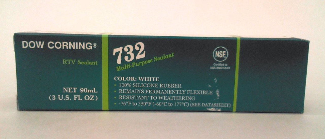 Dow Corning 732 White Silicone Sealant - 3 oz Tube