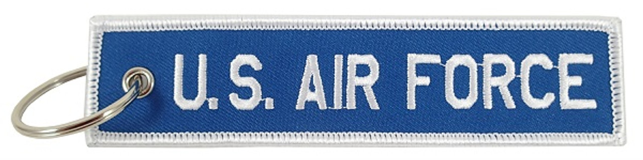 US Air Force Embroidered Keychain