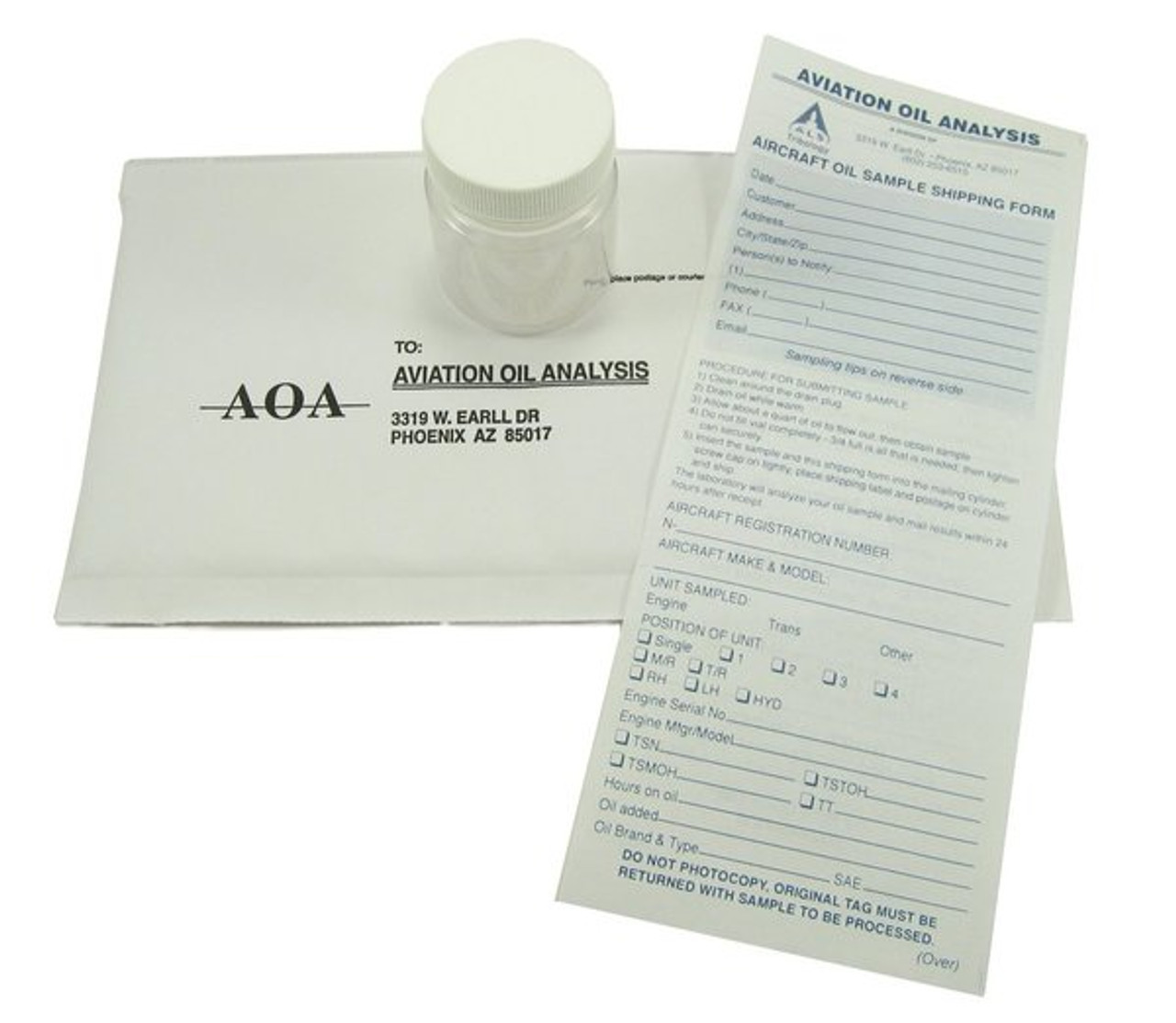 Aviation Reciprocating Engine Oil Analysis Kit