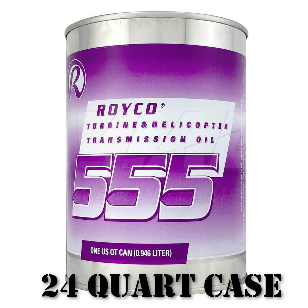 Royco 555 Turbine & Helicopter Transmission Oil - 24 Quart Case