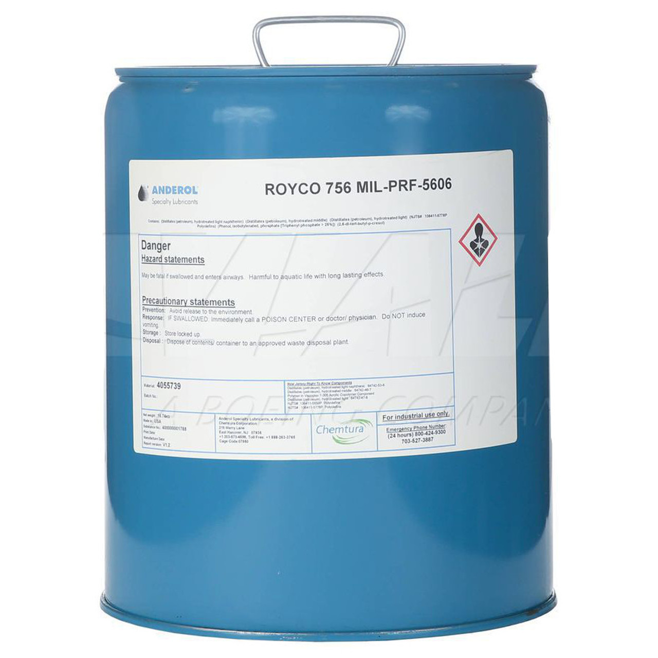 Royco 756 Hydraulic Fluid - 5 Gallon