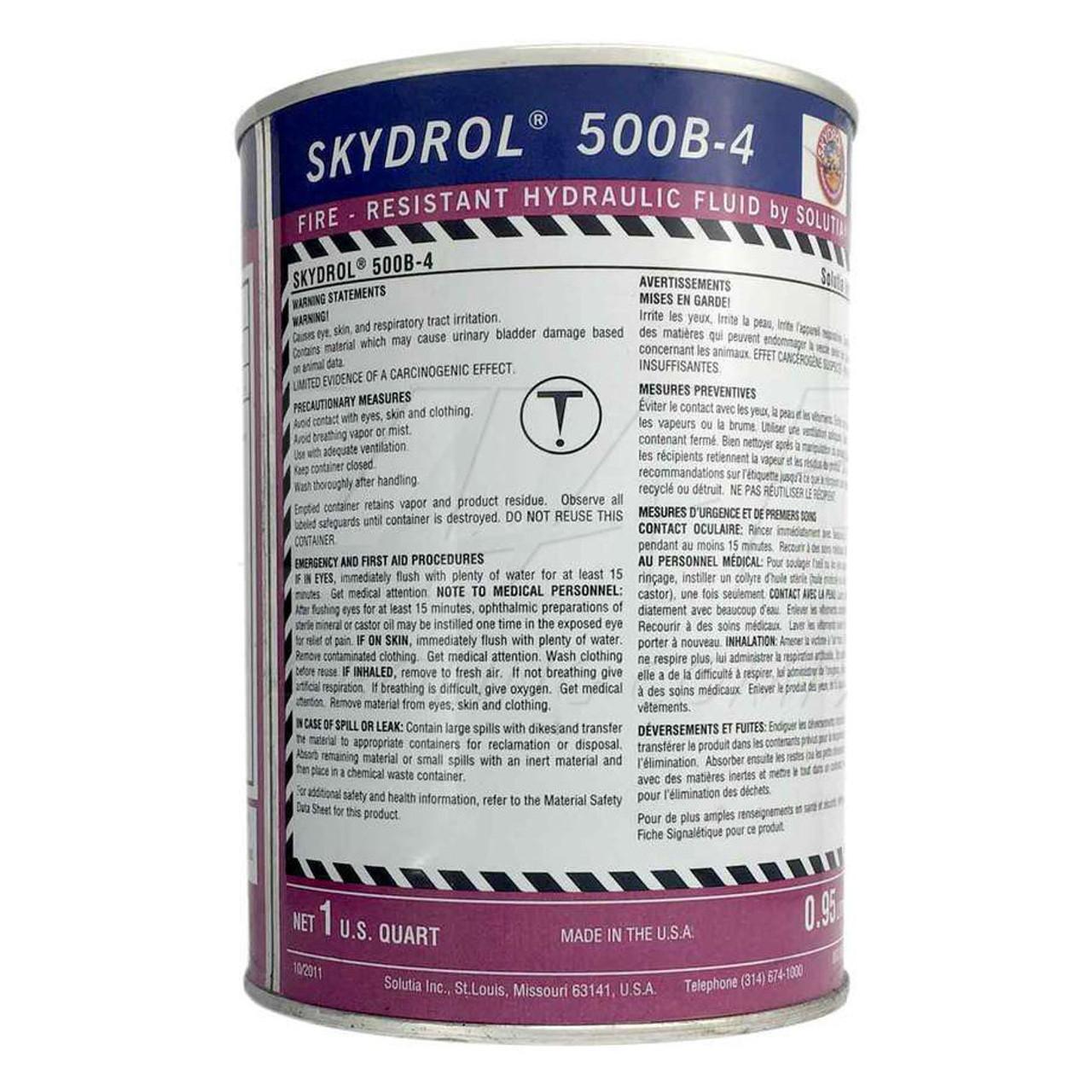 Skydrol 500B-4 Fire Resistant Hydraulic Fluid - 1 Quart Can