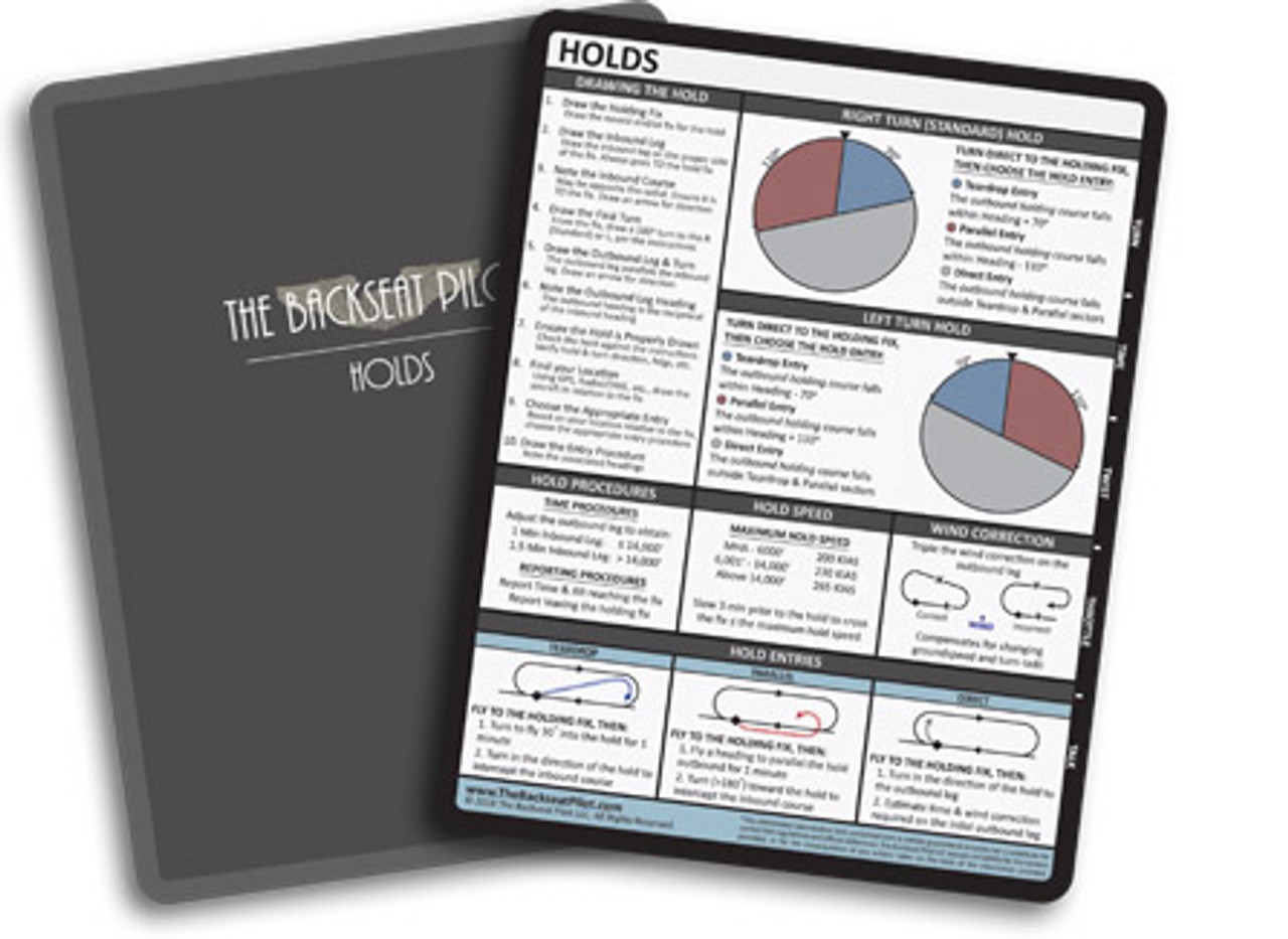 Backseat Pilot Holds Reference Card