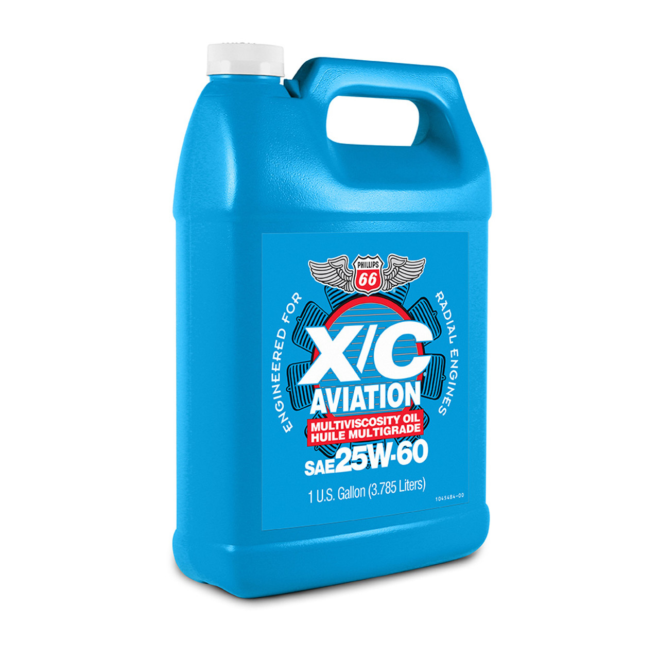 Phillips 66 X/C 25W60 Aviation Piston Engine Oil - 1 Gallon Jug