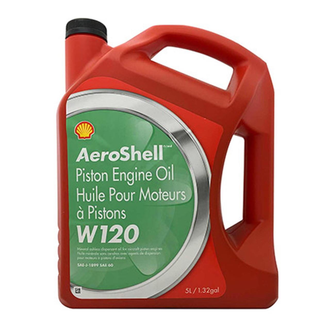 AeroShell W120 Aircraft Piston Engine Oil - 5L Jug
