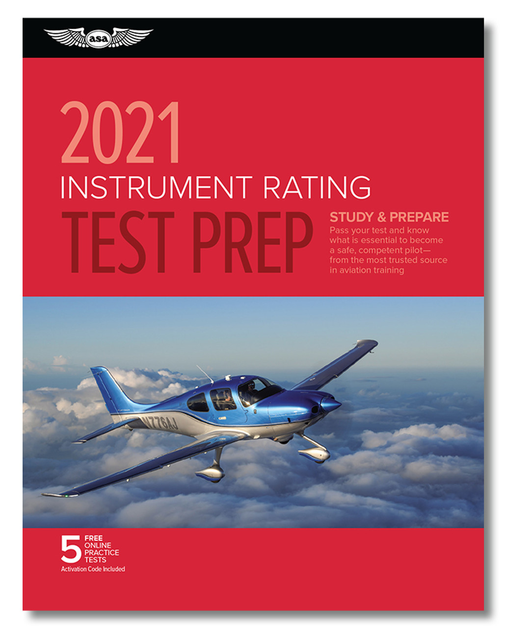 ASA 2021 Instrument Pilot Rating Test Prep Book Package