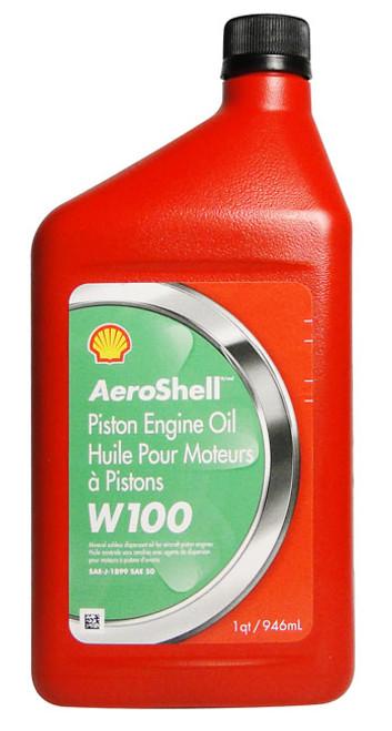Aeroshell Oil W100 SAE 50 Aircraft Oil - 12 Quart Case