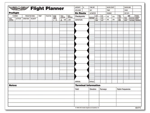 ASA: Flight Planner Pad