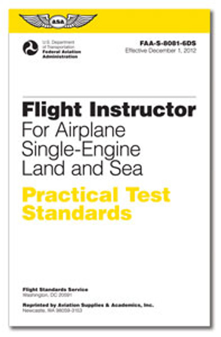 ASA Practical Test Standards: CFI - Single-Engine