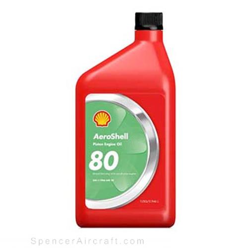 AeroShell Oil 80 SAE 40 Straight Mineral Oil - 12 Quart Case