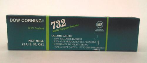 Dow Corning 732 White Silicone Sealant - 3 oz Tube