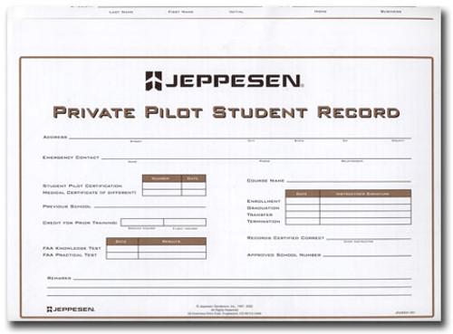Jeppesen Private Pilot Record Folder