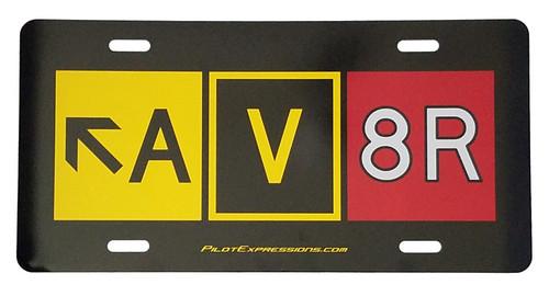 AV8R License Plate