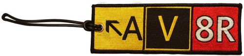 AV8R Taxiway Sign Flight Crew Luggage Tag