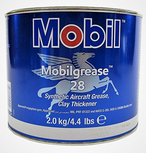 Mobilgrease 28 Synthetic Aircraft Grease Red, 4.4 lb can