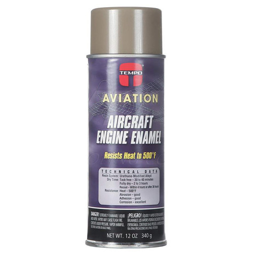 Tempo Aviation Aircraft Engine Enamel - 12oz Aerosol Can A239