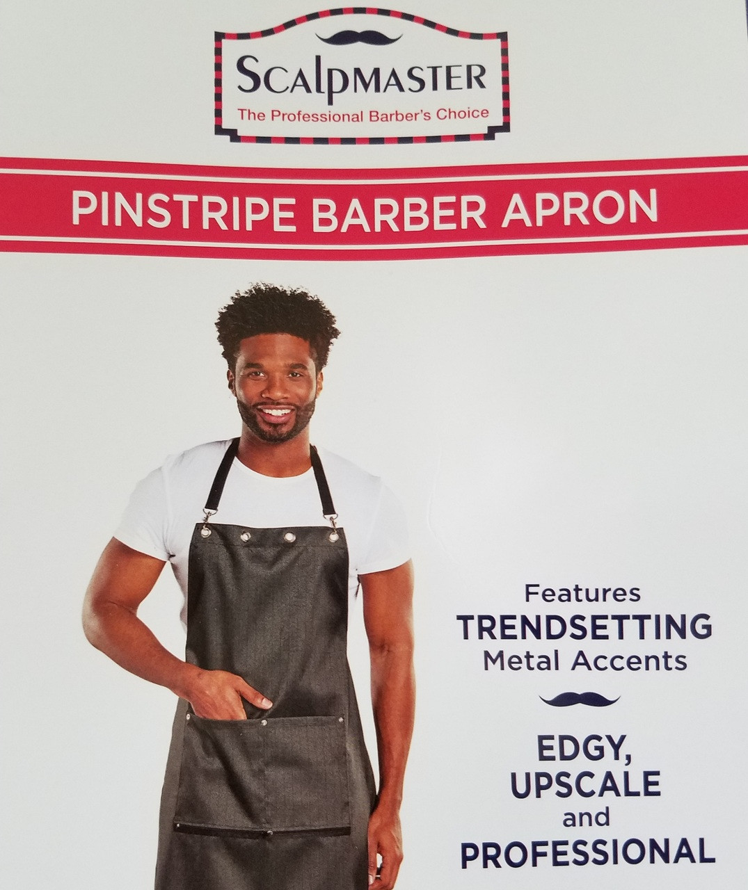 Barber Apron - Pinstripe