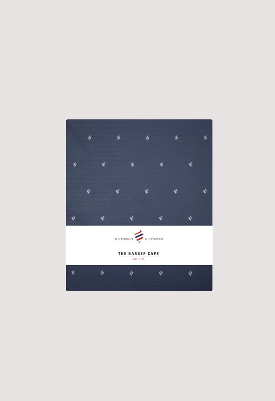Cutting Cape - Barber Strong Shield Navy Blue