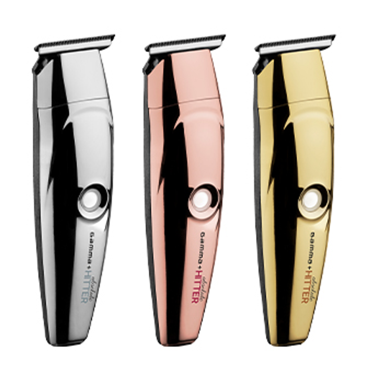 Gamma + Absolute Hitter Cordless Trimmer - Gold, Rosegold, Silver