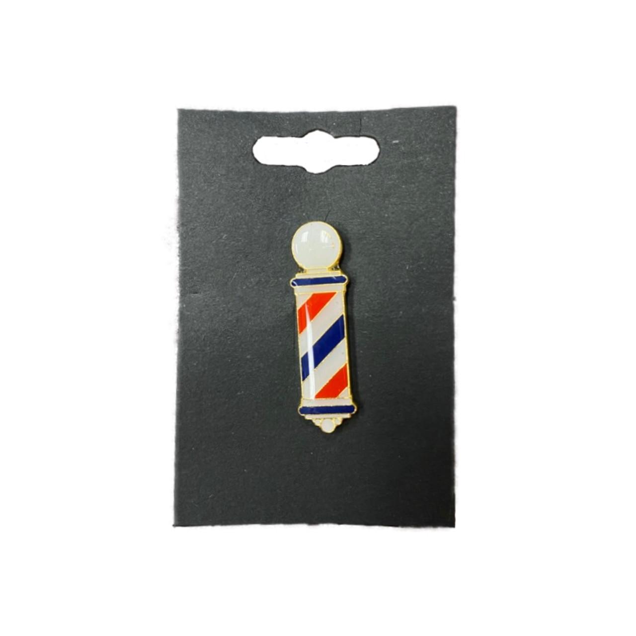 Lapel Pin - Barber Pole