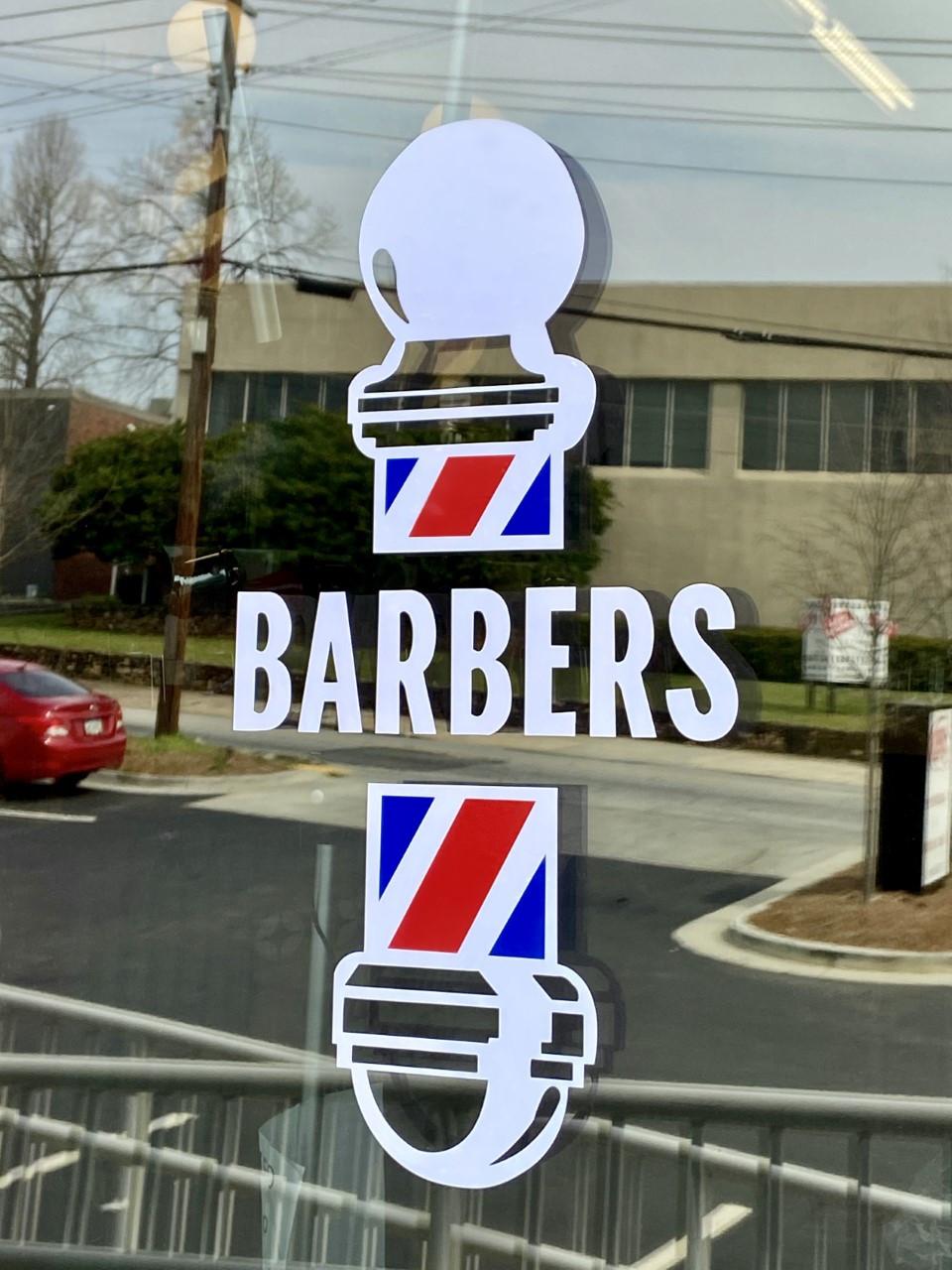 "Barber Pole Decal - Barber Pole ""Barbers"""