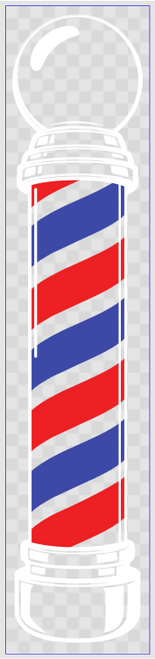 Barber Pole Decal - Large - New!