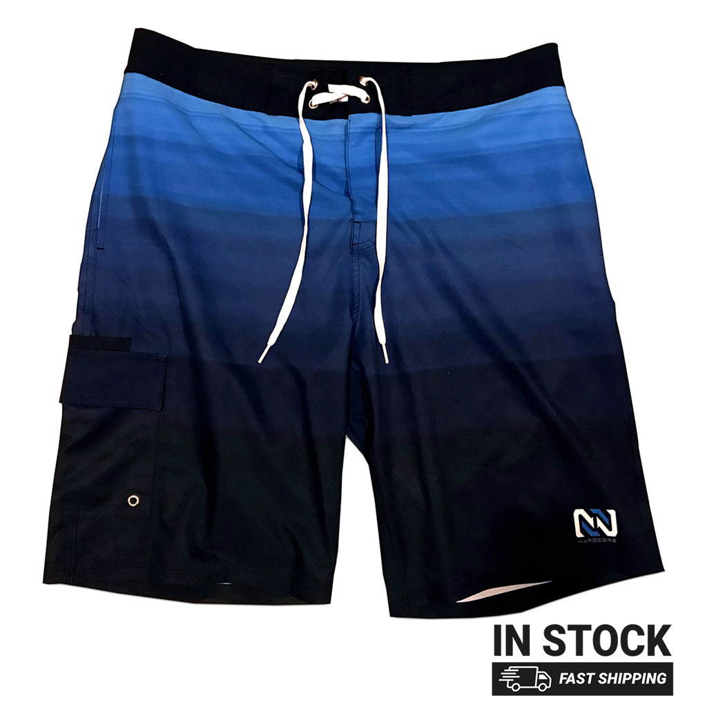 Blue Multitone Board Shorts