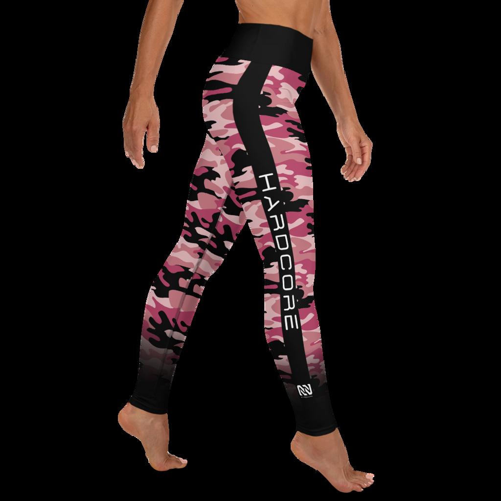 Pink Camo Raised Waistband Leggings