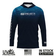 Blue Water Hooded Performance Shirt