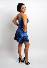 Blue Splatter Sundress