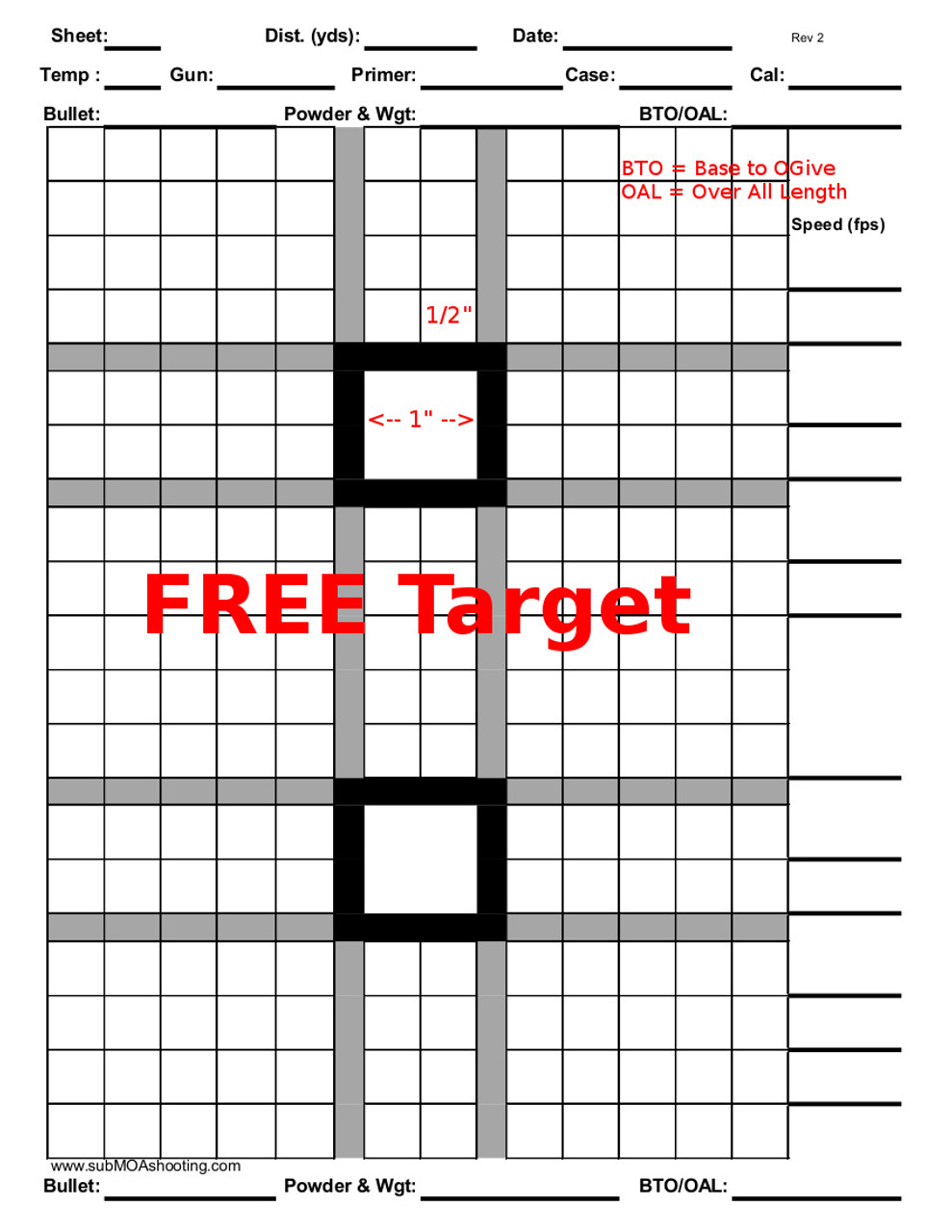photo about Printable Shooting Targets 8.5 X 11 identify Printable 8.5\