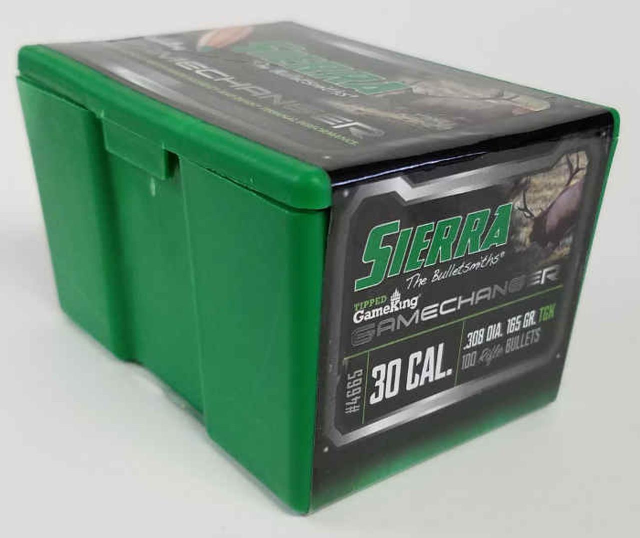 Sierra GameChanger - Tipped GameKing Bullets 30 Caliber  308 Diameter 165  Grain, Spitzer, 12 pack