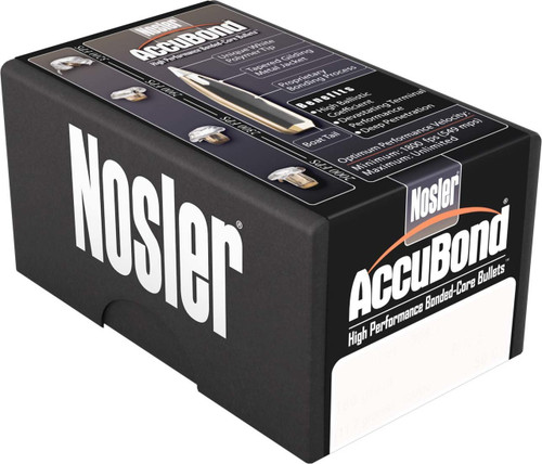 Nosler Accubond Bullets 338 Caliber .338 Diameter 180 Grain Spitzer