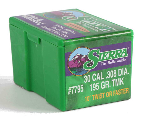 Sierra Tipped MatchKing Bullets 30 Caliber .308 Diameter 195 Grain