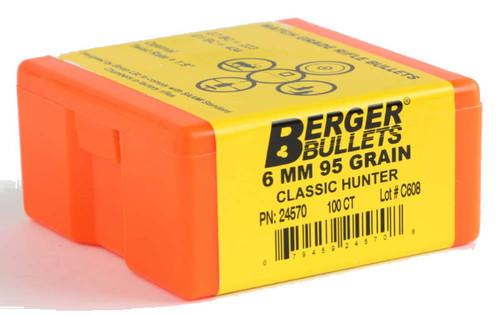 Berger Classic Hunter Bullets 6mm Caliber .243 Diameter 95 Grain