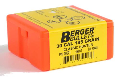Berger Classic Hunter Bullets 30 Caliber .308 Diameter 185 Grain