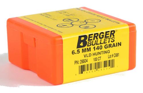 Berger VLD Hunting Bullets 6.5mm Caliber .264 Diameter 140 Grain